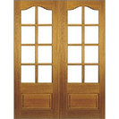 Hardwood Unglazed French Door