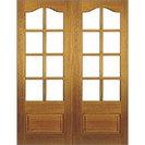 Hardwood Unglazed French Door