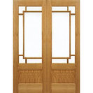 Oak Internal Orient French Door