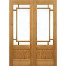 Oak Internal Orient French Door