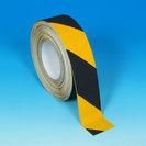 Black yellow hazard safety tape