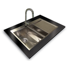 Worktop flushmount sink