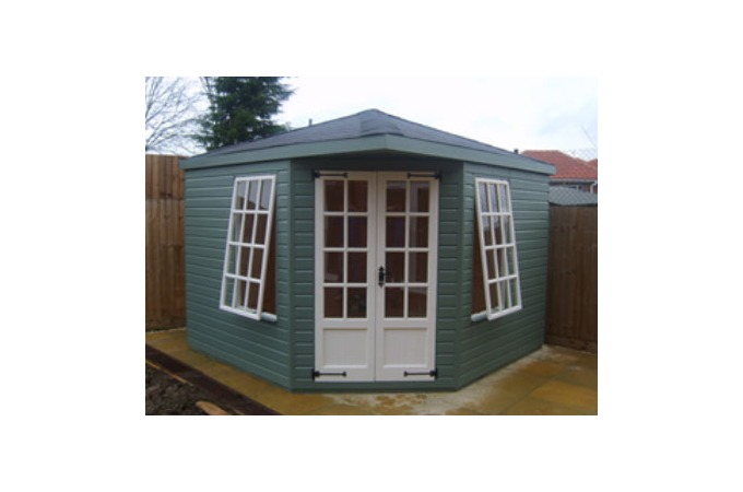 Garden Sheds And Summerhouses corner garden sheds uk and inspiration