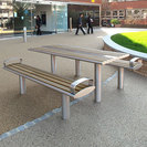 Zenith Stainless Steel & Timber Table & Benches