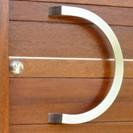 stainless steel semi-circular handle