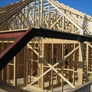 Timber frame with attic trusses