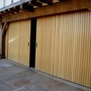 Biparting Timber Garage Doors